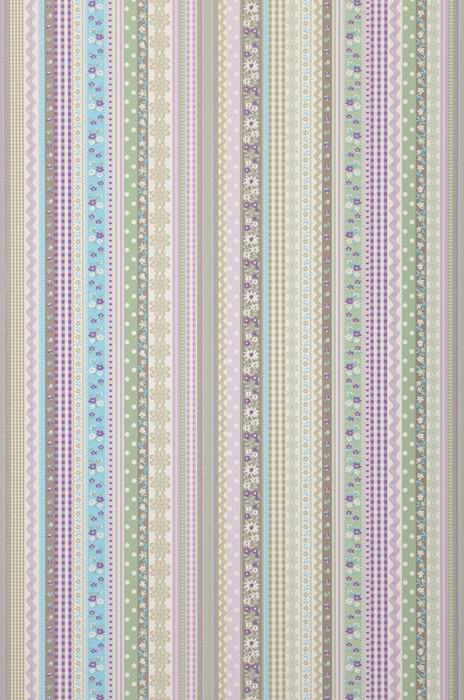 Wallpaper Hellen Matt Ribbons Stripes White Beige Beige grey Pale green Light blue Pastel violet