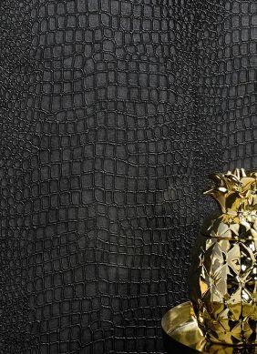 Papel de parede Caiman cinza antracite Raumansicht