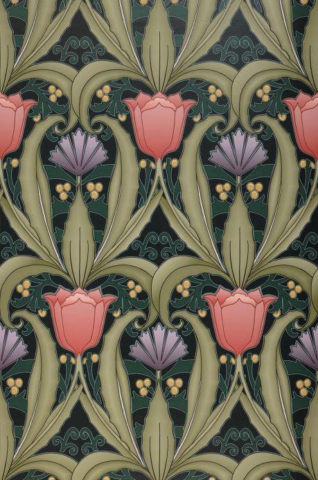 Floral Wallpaper Wallpaper Priscilla pastel red Bahnbreite