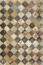 Wallpaper Solera Matt Imitation tiles Beige Cream Sand Black brown
