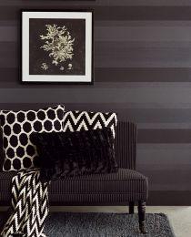 Papel pintado Velda gris negruzco