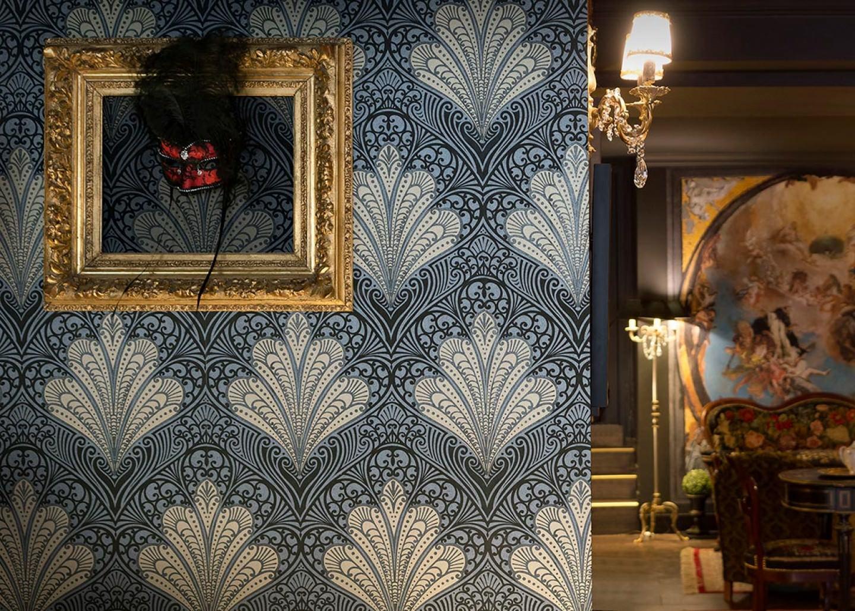 tapete astoria perldunkelgrau perlgold schwarz schwarz schimmer tapeten der 70er. Black Bedroom Furniture Sets. Home Design Ideas