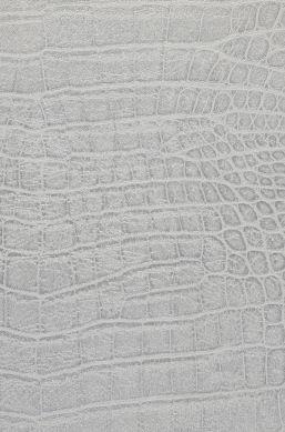 Papel de parede Reptile 01 aluminio branco Detalhe A4