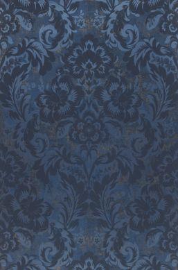 Papier peint Anastasia bleu perle Bahnbreite