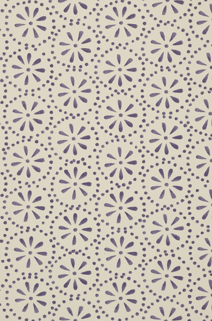 tapete feronia cremeweiss dunkelviolett tapeten der 70er. Black Bedroom Furniture Sets. Home Design Ideas
