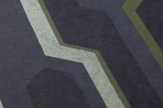 Papel de parede Captain Future Mate Elementos geométricos Azul acinzentado Azul pálido brilhante Verde pálido brilhante Verde samambaia Azul aço