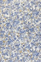 Wallpaper Broken China Matt pattern Shimmering base surface Porcelain Shards Pearl gold Sapphire blue Pigeon blue Violet blue White