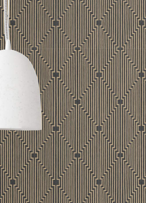 Wallpaper Vendome Matt Graphic elements Grey Black Matt gold