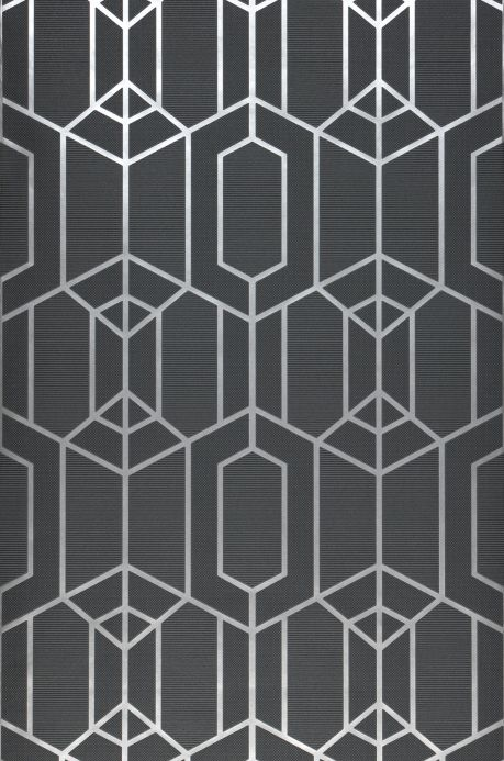 Art Deco Tapeten Tapete Harlowe Basaltgrau Bahnbreite