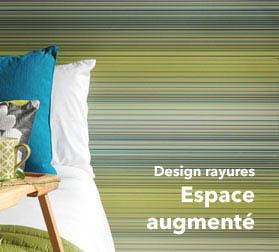Papier Peint A Rayures Tout En Style La Magie Des Rayures