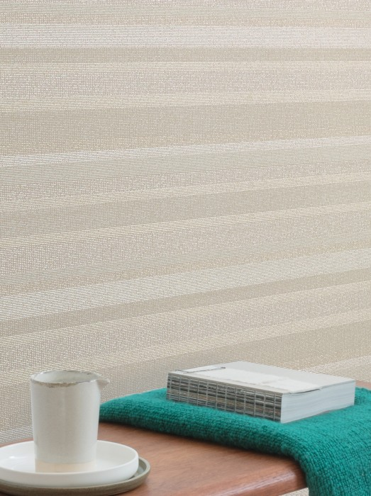 Wallpaper Tekin Matt Stripes Beige grey Cream shimmer Light grey White
