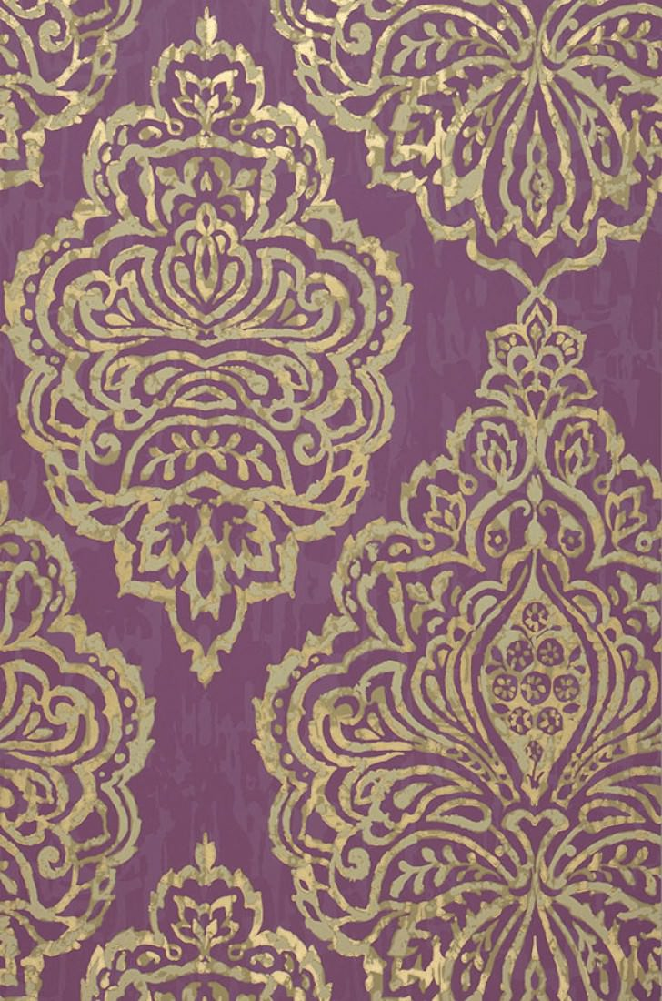 olivia violet ivoire clair or nacr papier peint baroque motifs du papier peint papier. Black Bedroom Furniture Sets. Home Design Ideas