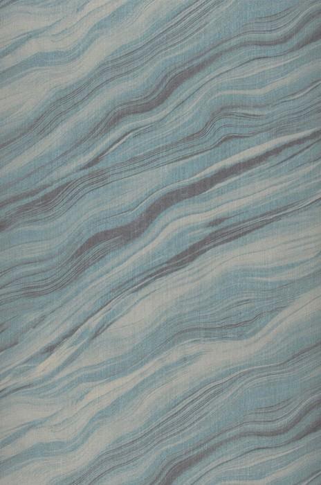 Wallpaper Elyria Matt Looks like textile Imitation marmor Anthracite Pale turquoise Light turquoise blue