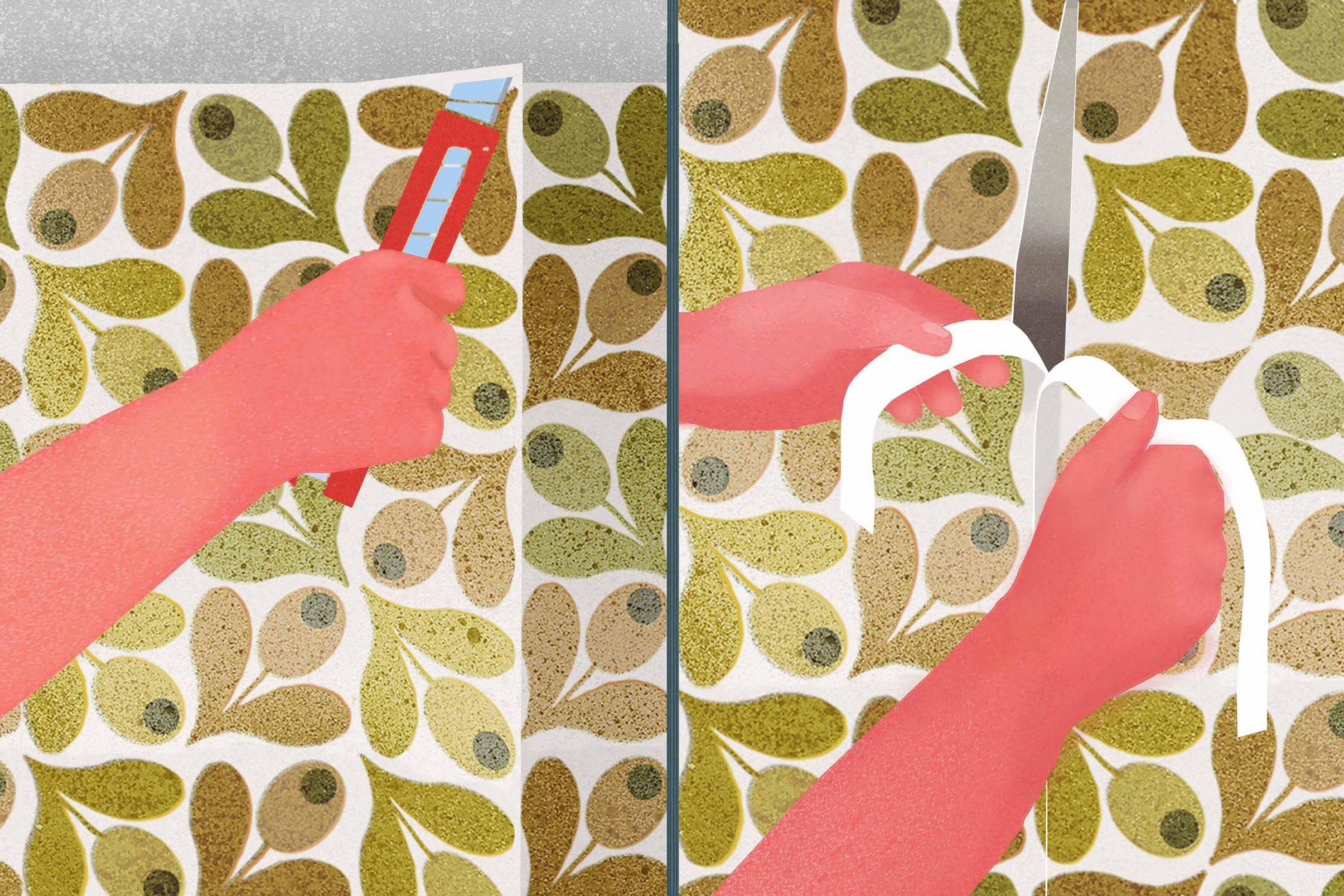 Como-colocar-papel-de-parede-em-cantos-Como-conseguir-o-corte-de-costura-dupla