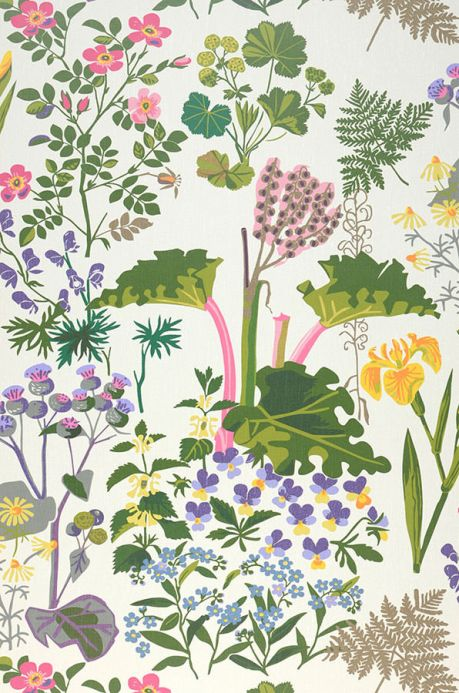 Floral Wallpaper Wallpaper Singa shades of green Roll Width