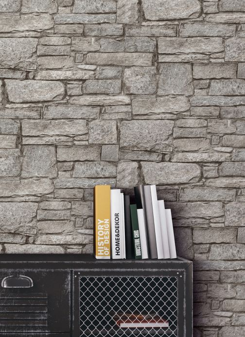 Stone Wallpaper Wallpaper Hadlar grey Room View
