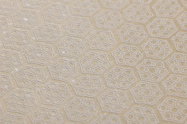 Papier peint imana beige blanc cr me papier peint des ann es 70 - Papier peint annee 70 ...