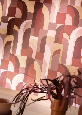 Papier peint Seizo tons de brun Raumansicht
