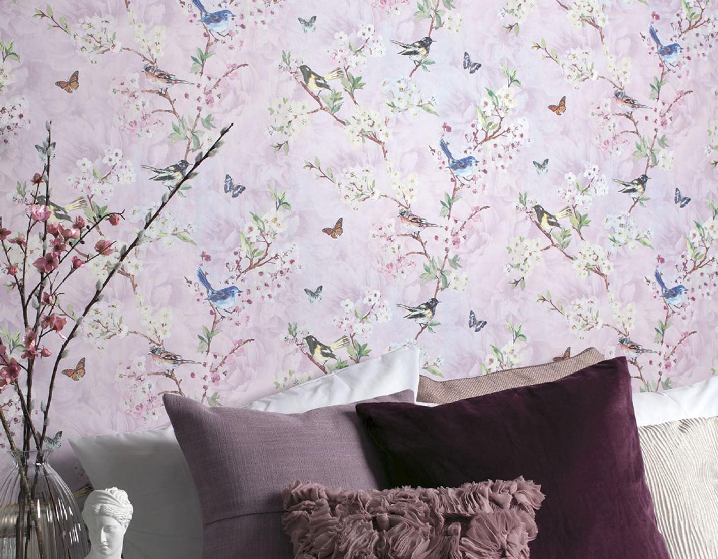 tapete helika violettweiss blassgelb blau braun gr n rotlila tapeten der 70er. Black Bedroom Furniture Sets. Home Design Ideas