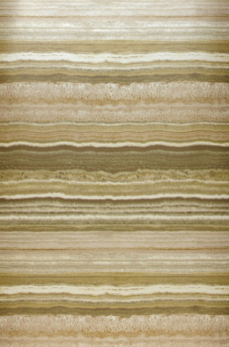 Wallpaper Sofonas Shimmering Imitation stone Stripes Ivory Grey beige Green brown Olive yellow