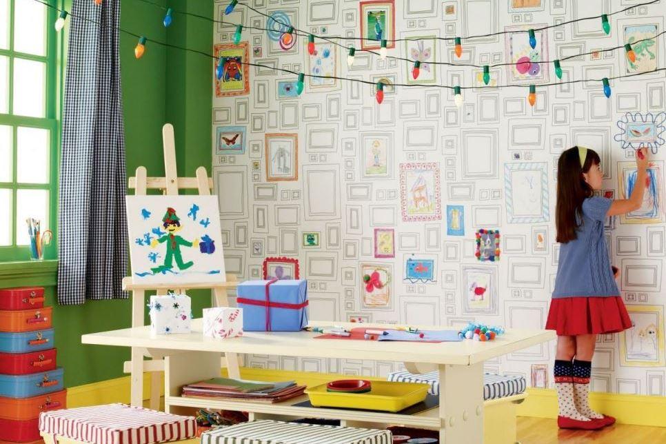 tapeten der 70er. Black Bedroom Furniture Sets. Home Design Ideas