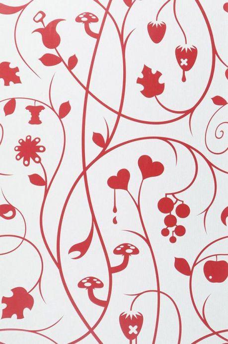 Archiv Papier peint Antiope rouge Largeur de lé