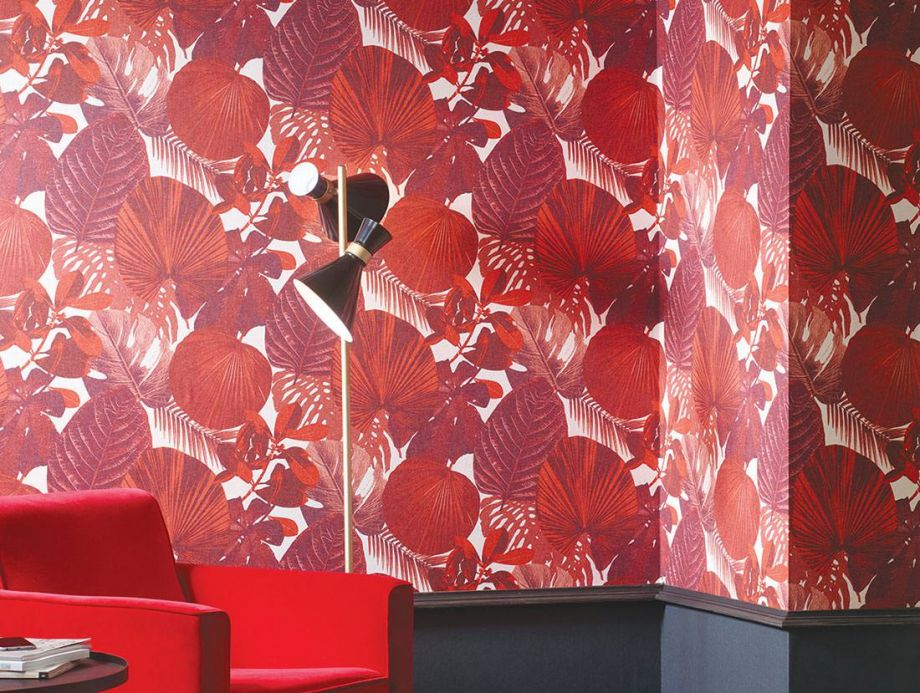 Modern Wallpaper Wallpaper Venaria coral red Room View