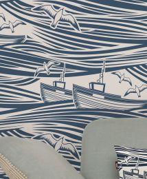 Wallpaper Ulysses azure blue