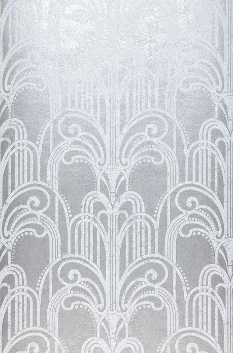 Papier peint classique Papier peint Emilia aluminium gris Largeur de lé