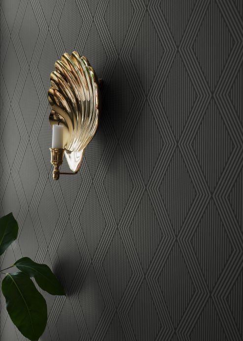 Geometrische Tapeten Tapete Dalur Gold Schimmer Raumansicht