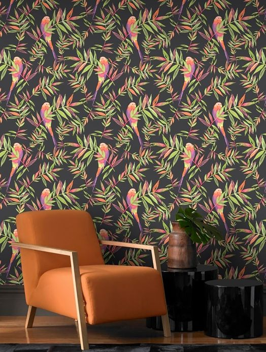 Archiv Wallpaper Isadora light green Room View