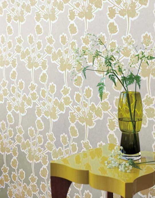 Archiv Wallpaper Junit light olive green Room View