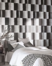 Wallpaper Fenegra Matt Graphic elements Stripes Grey tones White