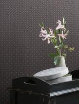 Wallpaper Constantin Matt Plaid Brown grey Dark brown Light grey