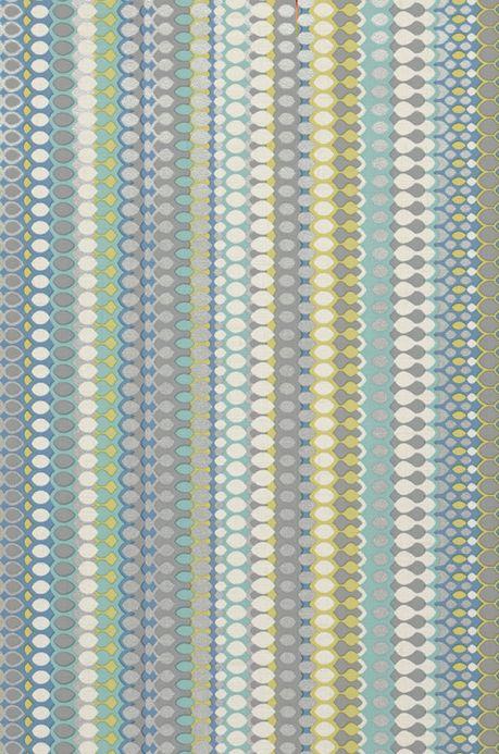 Archiv Papier peint Valentin turquoise menthe Détail A4
