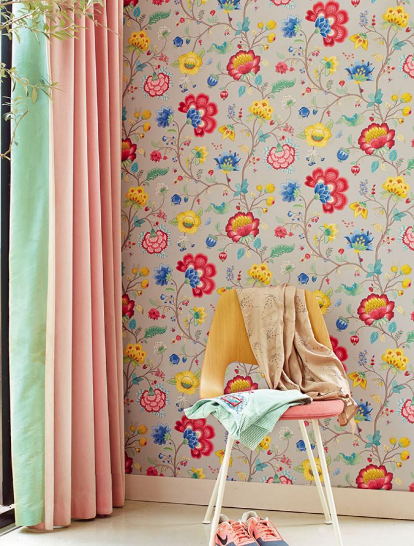 belisama platingrau beigegrau blau goldgelb himbeerrot patinagr n florale tapeten. Black Bedroom Furniture Sets. Home Design Ideas