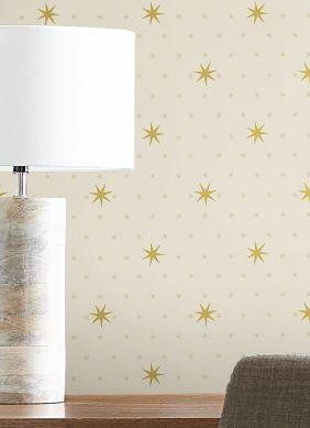 Wallpaper Mako cream Raumansicht