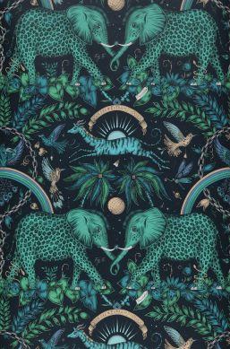 Papier peint Zambezi tons de vert Bahnbreite