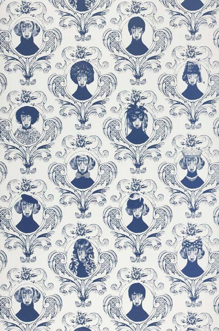 Papel pintado tillsammans blanco azul oscuro papeles - Papeles pintados de los 70 ...