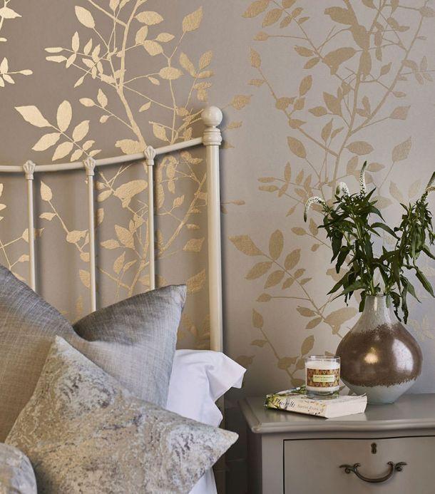 Rooms Wallpaper Glorette gold Room View