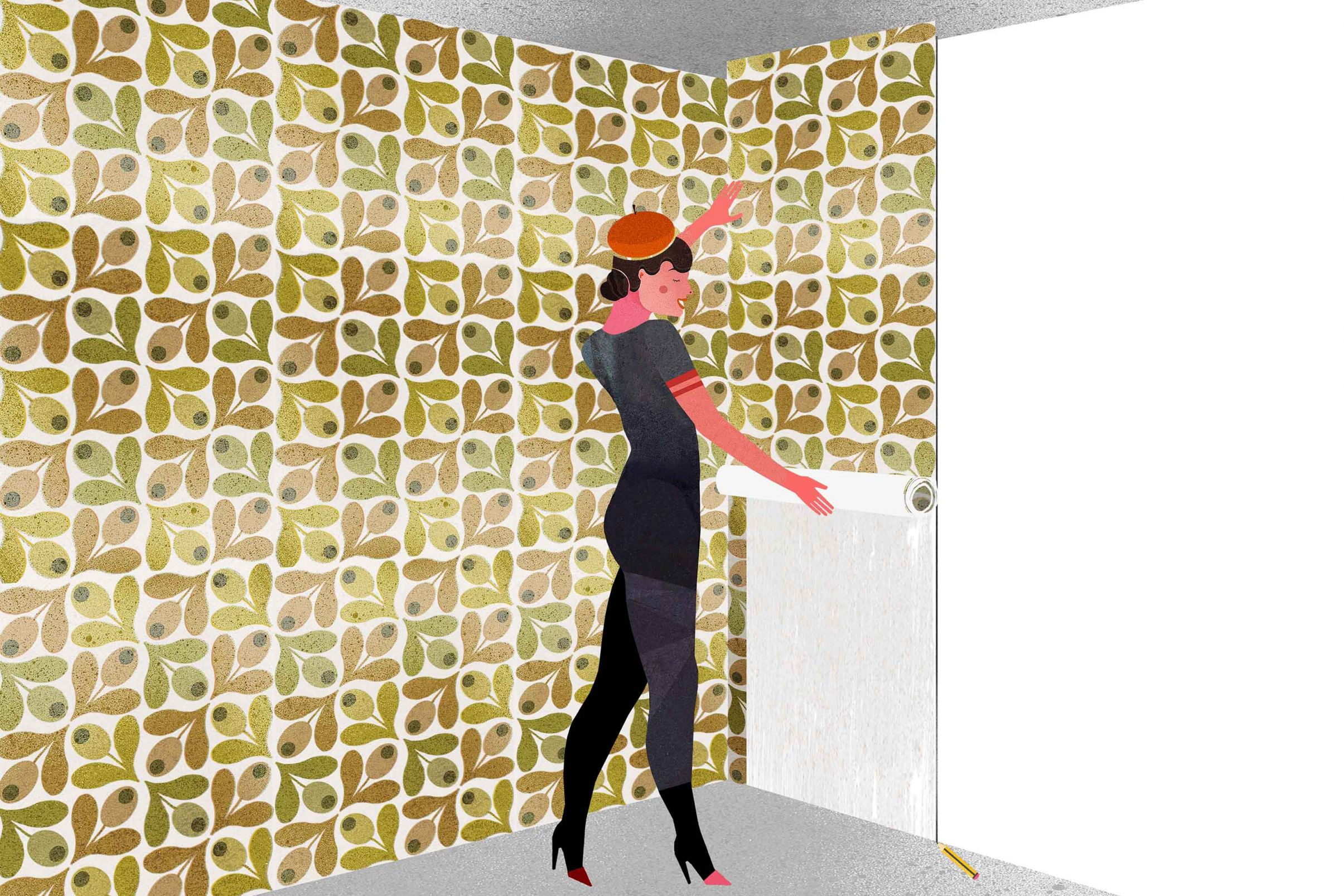 How-to-wallpaper-in-corners-Hang-new-length-with-an-overlap