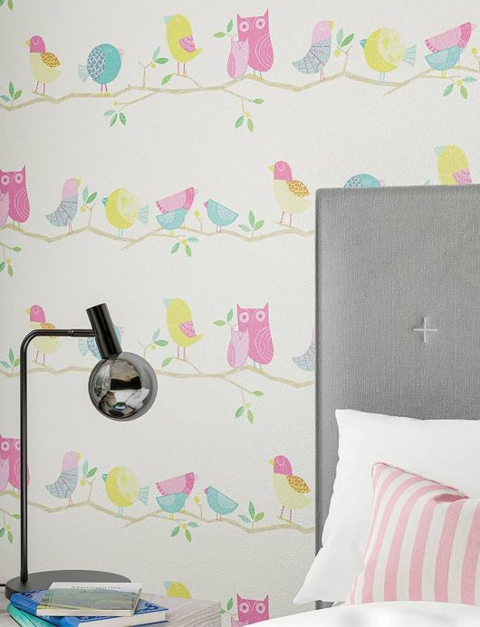 Children's Wallpaper Wallpaper What a Hoot rose Room View