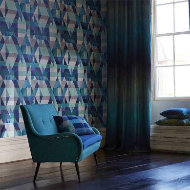 Papel de parede Zewana azul turquesa Ver quarto