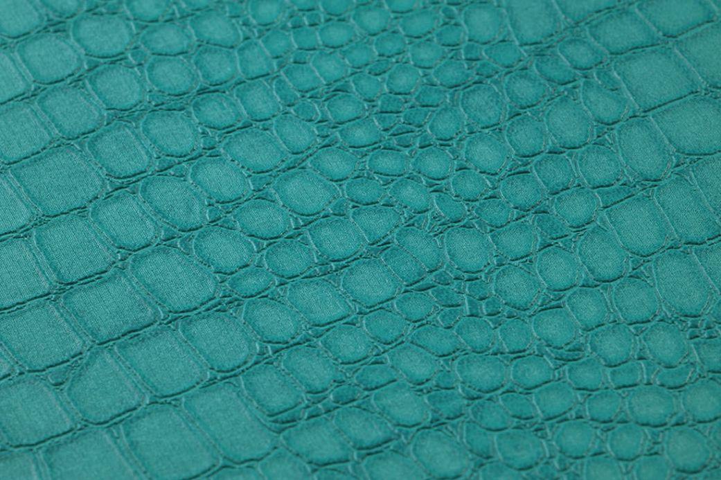 Papel pintado imitación cuero Papel pintado Caiman azul agua Ver detalle
