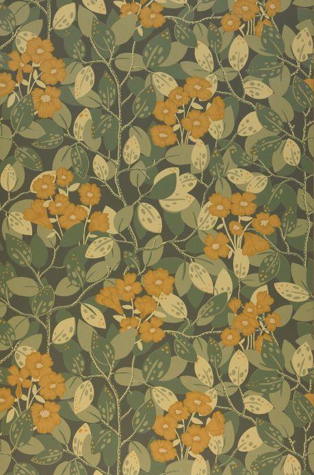 Papier peint floral Papier peint Hedera gris olive Bahnbreite