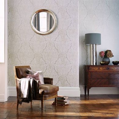 Papel pintado Perun blanco crema Ver habitación