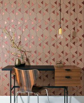 Wallpaper Elias Matt Triangles Graphic elements Brown tones Copper brown shimmer
