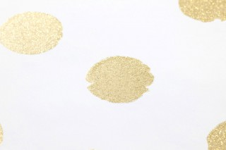 Wallpaper Corbetta Shimmering pattern Matt base surface Dots Cream Gold glitter