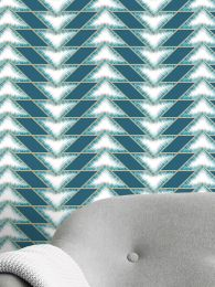 Papel pintado Fantaghiro azul turquesa