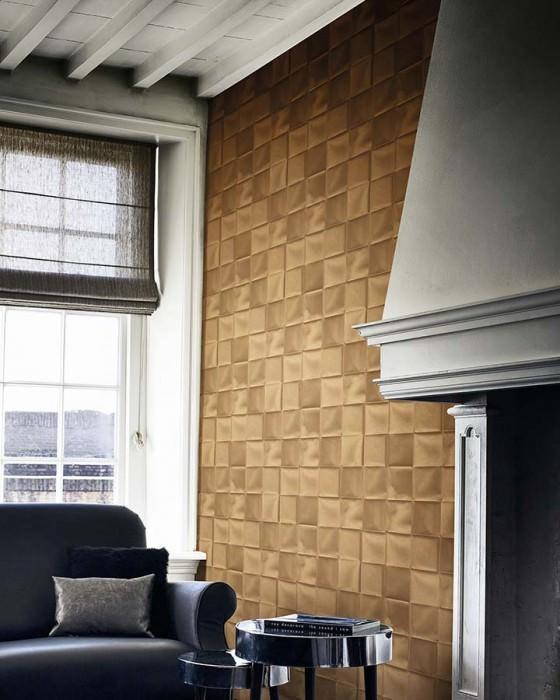 Wallpaper Cortese Shimmering Looks like textile Imitation textile Brown beige